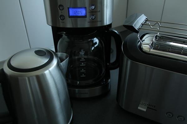 Kaffeemaschine, Heißwasserbereiter, Toaster