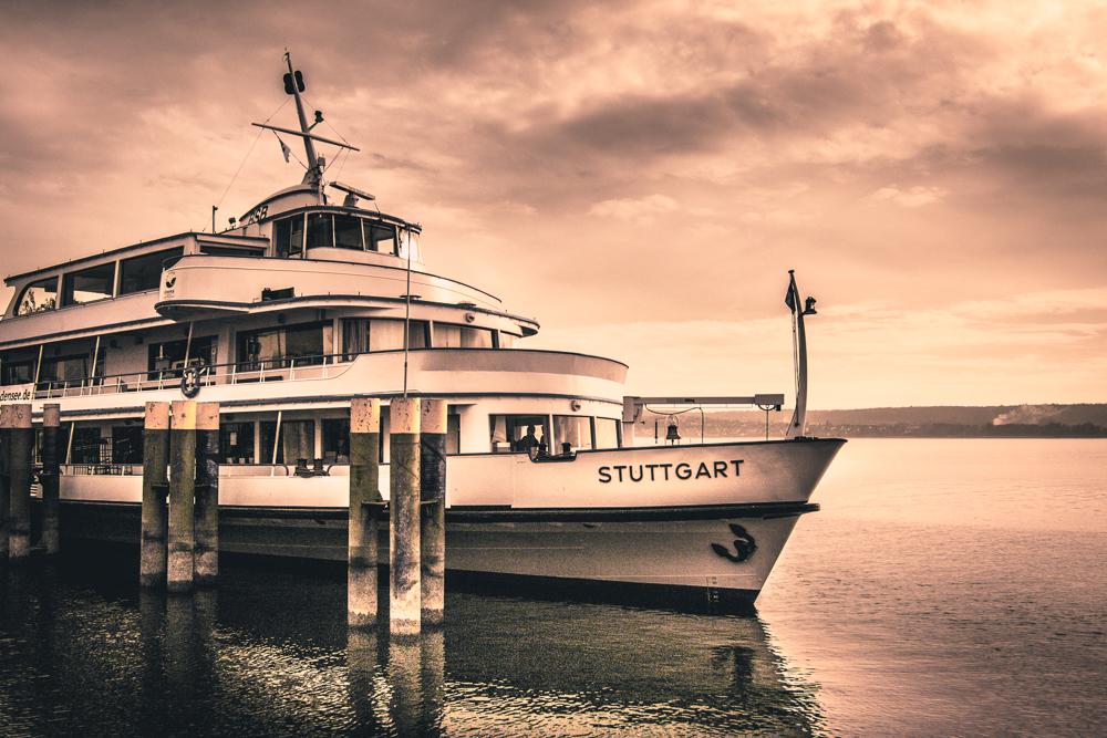 Erlebnisse - MS Stuttgart im Überlinger Hafen